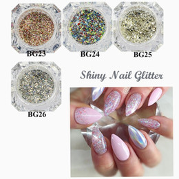 wholesale glitter products UK - New product nail polish glitter laser powder magic mirror high-end DIY nail sequin jewelry