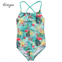 wholesale swimwear brands 2019 - HIRIGIN Brand Polyester Toddler Kids Baby Girls Bikini Set Swimsuit Swimwear Bathing Beachwear Clothes 2-8T discount who