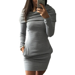 $enCountryForm.capitalKeyWord NZ - autumn winter hot models mini dress hooded sweater vestido package hip long-sleeved warm dresses short clothing vestidos LBD9823 #396091