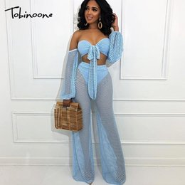 $enCountryForm.capitalKeyWord NZ - Tobinoone Sexy Women Jumpsuit Romper Black Mesh Long Sleeve Jumpsuit 2019 Elegant Summer Jumpsuit Overalls Casual Streetwear MX190726