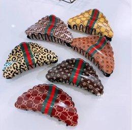 sexy african american hair Australia - Korean version of the temperament acrylic leopard hairpin letters striped sexy personality catching the back of the head hair accessories Eu