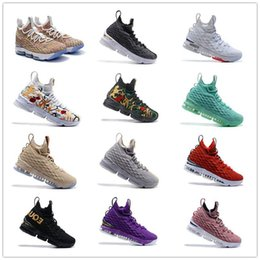 678edf05986 2019 cheap Newest Ashes Ghost Lebron 15 Basketball Shoes Arrival Sneakers  15s Mens Casual 15 King James sports shoes LBJ EUR 40-46