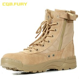 $enCountryForm.capitalKeyWord Australia - CQB.FURY Summer Mens Cow suede desert combat boot Ankle-up army boots with zipper size38-46 ZD-A Mu