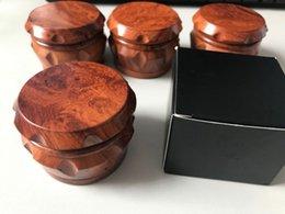 Holz Tabak Mühle Holz Gewürz Kräuter Hand Mühle Brecher 50mm 63mm 4 Teile für Raucherzubehör Tabak Mühlen Neupreis im Angebot