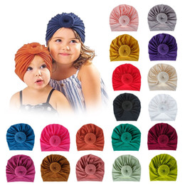 wig cap boy 2020 - 18 Colors Baby Accessories For Newborn Toddler Kids Baby Girl Boy Turban Cotton Beanie Cap Knot Solid Soft Caps