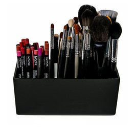 tool box makeup storage Australia - Brush And Liner Makeup Organizer Acrylic Makeup Tools Storage Box 3 Slots Eyebrow Pencil Holder Lipsticks Stand Case