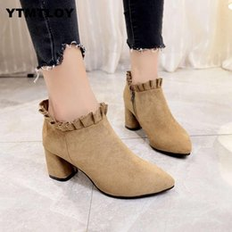 Wholesale 2019 Women s fashion wild sequins women s shoes autumn and winter boots Europe and the United States fashion British