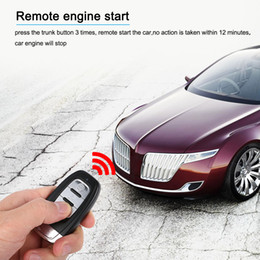 $enCountryForm.capitalKeyWord NZ - Freeshipping Auto Car Alarm Engine Start Stop Button Remote Start Open and Close Windows Version Smart Key PKE Passive Keyless Entry System