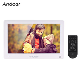 digital picture frame clock 2019 - Andoer 11.6 Inch Digital Photo Frame Electronic Picture Album High Resolution Support Video AV Input Clock with Remote C