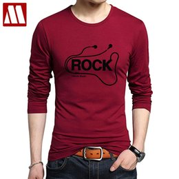 heavy red clothing NZ - DJ Rock Long Sleeve Tshirt Man Music Cotton Heavy Metal Tee shirts Rap Hip Hop Printed Men's T-shirt Punk Style Clothing for Men CJ200410