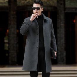 $enCountryForm.capitalKeyWord Australia - 2019 New Winter Woolen Coat Men Leisure Long Sections Woolen Coats Mens Pure Color Casual Fashion Jackets   Casual Men Overcoat