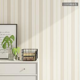 Plain Paper Rolls Australia - Striped Wallpaper Simple Nordic Non-woven Bedroom Living Room Tv Background Wall Decorated Wallpaper Modern Plain