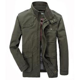 Men Military coat sliM online shopping - Jacket Men Causal Cotton Windbreaker Long Jackets Mens Military Outwear Flight Jacket Plus size XL Men s Trench Pocket Coats