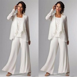$enCountryForm.capitalKeyWord Australia - 2019 Elegant Evening Mother of The Bride Dresses Ankle Length Long Sleeve Jackets Lace Pant Suits for Women Mother Groom Plus Size Gowns
