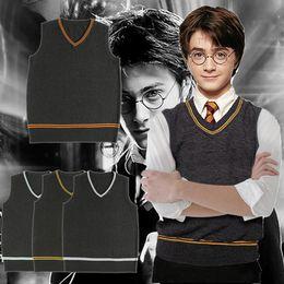 $enCountryForm.capitalKeyWord Australia - High Quality Harry Potter Halloween Cosplay Costume Hufflepuff Ravenclaw Slytherin Gryffindor Unisex Knit Vest Halloween Gifts S-2XL