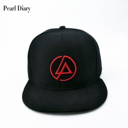 Discount linkin park band - Linkin Park Rock cap Embroidery Men's baseball caps cotton Band hat Casual snapback hats hip hop for men dad cap