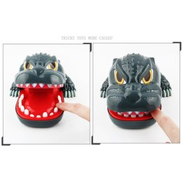basketball toys for boys UK - L size Biting Dinosaur Lucky Monster Joke gadgets party Travel game for kids Children adult Family Halloween toy game