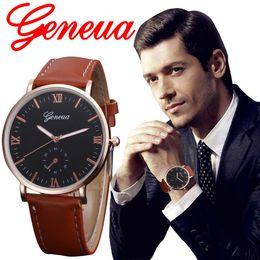 $enCountryForm.capitalKeyWord Australia - 2018 Best Sell Watch Men Watches Quartz Geneva Retro Design Leather Band Alloy Quartz WristWatch relogio masculino reloj hombre