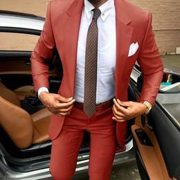 $enCountryForm.capitalKeyWord Australia - Latest coat pants designs Brown men suit Slim fit elegant tuxedos Wedding business party dress Summer jacket+pants terno