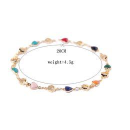 $enCountryForm.capitalKeyWord Australia - Women Heart Gold Color Charm Bracelets Zircon Stone Hollow Flower Bracelet Fashion Jewelry pulseras