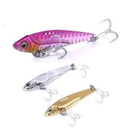 $enCountryForm.capitalKeyWord Australia - 65mm 11g VIB Lead Fish Metal Baits 6# Blood Slot Hook Freshwater Sea Fishing Bass Fake Bait Vivid Vibrations Spoon Fishing Lures