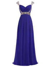 $enCountryForm.capitalKeyWord UK - New Simple Cheap Sequins Long Chiffon Prom Dresses With Bead Lace Up Plus Size Women Formal Evening Cocktail Celebrity Party Gowns QC1455