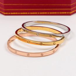 $enCountryForm.capitalKeyWord NZ - Valentine\'s Day Gift 18K Titanium Steel Men Women Bracelets Luxury Brand Fashion Tennis for Couple Celtic Style Unisex Bracelets