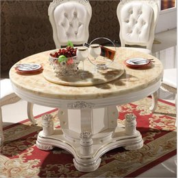 Italian Style Tables Australia - Modern Style Italian Dining Table, 100% Solid Wood Italy Style Luxury round Dining Table set o1102