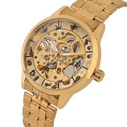 $enCountryForm.capitalKeyWord Australia - Luxury Golden Frame Automatic-self-winding Mechanical Watch for Men Practical Night Light Function Wristwatch Stainless SteelBand Watches