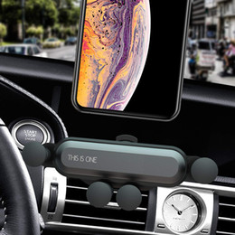 Hands Free Phone Holder Australia - Car Phone Mount, 2019 New Universal Auto-Retractable Hands Free Gravity Car Air Vent Cell Phone Holder with Auto Lock