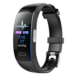 $enCountryForm.capitalKeyWord Australia - P3 Plus Blood Pressure SmartBand Heart Rate Monitor PPG ECG Smart Bracelet Activit fitness Tracker Watch Intelligent Wristband