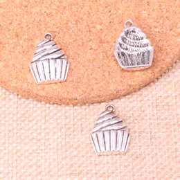 jewelry cupcakes Australia - 114pcs Charms cupcake ice cream Antique Silver Plated Pendants Fit Jewelry Making Findings Accessories 20*15mm