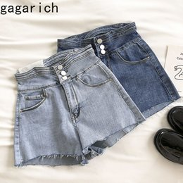 korean female jeans UK - Gagarich Women Sexy Shorts High-Waisted Jeans Female Summer 2020 New Korean Personality Hollowed-out Denim Shorts