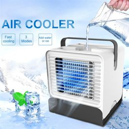 $enCountryForm.capitalKeyWord Australia - Mini Air Cooler Desktop Portable Fan USB Air Conditioner Negative Ion Humidifier Purifier with Night Light Water tank injection 150ml water