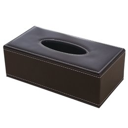 $enCountryForm.capitalKeyWord Australia - Napkin Large Holder PU Leather Tissue Case Waterproof Household Office Rectangular Practical Paper Box Antimoisture
