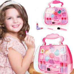 wholesale girls christmas dress NZ - Princess Girls Simulation Dressing Table Make-Up Sets Toy Cosmetics Party Performances Dressing Box Set Children Gift
