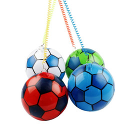 $enCountryForm.capitalKeyWord Australia - 5pc NEW Inflatable Football With String Sports Kids Toy Ball Juggling Ball Outdoor kindergarten clap the ball Decompression toys