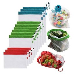 $enCountryForm.capitalKeyWord Australia - 1PCS Mesh Shopping Bag Reusable Washable Eco Friendly Shopper Bag Grocery Supermarket Fruit Vegetable Toys Sundries Storage Pack