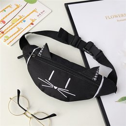 ear packs Australia - Child Mini Waist Bag Fanny Pack Cute Cat Ear Printed Joker Chest Canvas Pocket Money Belt Kids Waist Bag Buideltas 2019 #YY