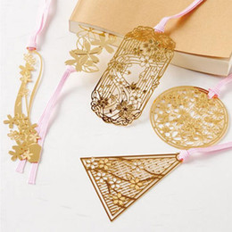 $enCountryForm.capitalKeyWord Australia - Sakura Metal Hollow Bookmark Creative Chinese Style Cherry Blossoms Bookmarks Book Folder Office School Supplies Stationery Gift