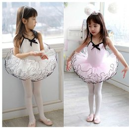 Discount gymnastics skirts - Girl Ballet Dance Dress Summer Cotton Sling Gymnastics Ballet Skirt High Quality Stage Performance Cute Lace Princess Tu