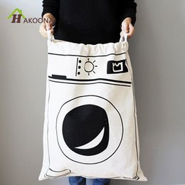 baking machines Canada - Hakoona Bathroom Laundry Washing Machines Dirty Clothes Oversized Drawstring Bags For Children Toys Storage C19041701
