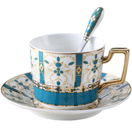 Wholesale european cups for sale – custom European ceramic coffee cup set hand painted Creative vintage cup Cafe bar supplies personality breakfast cup