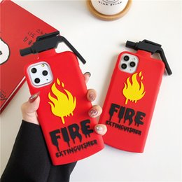 cell phone silicone case iphone NZ - Unique Design Red Fire Extinguisher Silicone Cell Phone Case for iphone 11 pro 6 6s 7 8 plus xs max xr xs