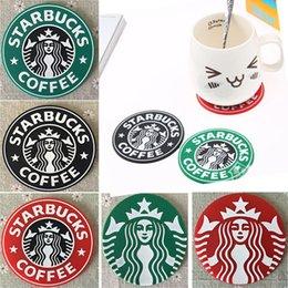 Starbucks Coaster Australia - Cup Mats Pads Decoration Starbucks Mermaid Silicone PVC Coaster Round Platemat Mug Coffee Milk Cup Insulation mat Pads HH-M01