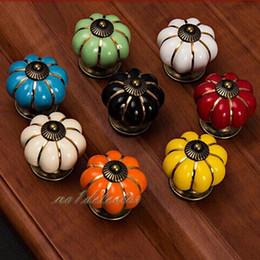$enCountryForm.capitalKeyWord Australia - Toyswill New Arrivel Vintage Ceramic Door Knobs Cabinet Drawer Wardrobe Pumpkin Cute Cupboard Kitchen Pull Handle