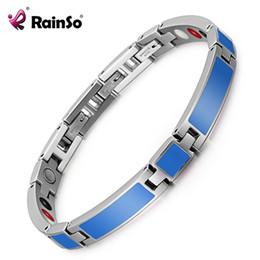Fashion Magnetic Therapy Bracelet Australia - Rainso 2019 New Fashion Epoxy Jewelry Female Magnetic Therapy Bracelet & Bangle Germanium Bio Energy Wristband For Arthritis Y19051101