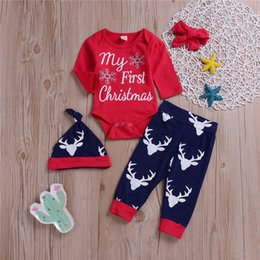 $enCountryForm.capitalKeyWord Australia - Christmas kids clothes Outfits christmas baby kids Letter long sleeves tops jumpsuits+Deer-headed trousers+hat+hair band 4 pieces set ZJY658