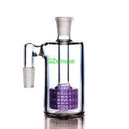 Discount glass water pipe ash - Matrix Perc Ash Catcher 14mm 45 & 90 degrees for Glass Bong honeycomb ashcatcher bubbler different purple bongs ashcatch