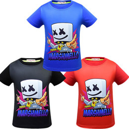 wholesale round neck tee shirts NZ - DJ marshmello T-shirt Short Sleeves Tee Shirt Tops round Neck cartoon 3d printed T-shirt home casual clothes